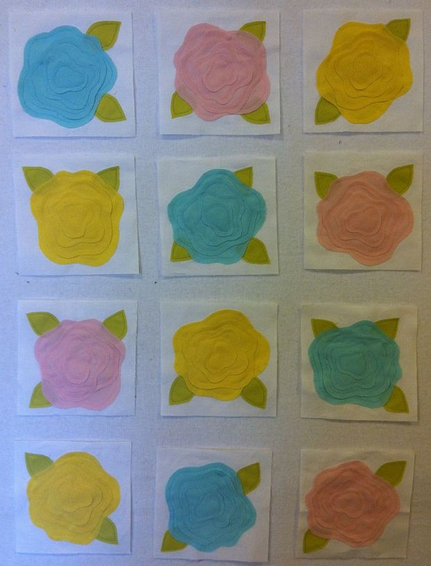 Applique Rose Blocks