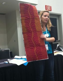 Angela Walters at QuiltCon
