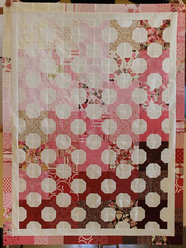 Hugs 'n Kisses Quilt Top