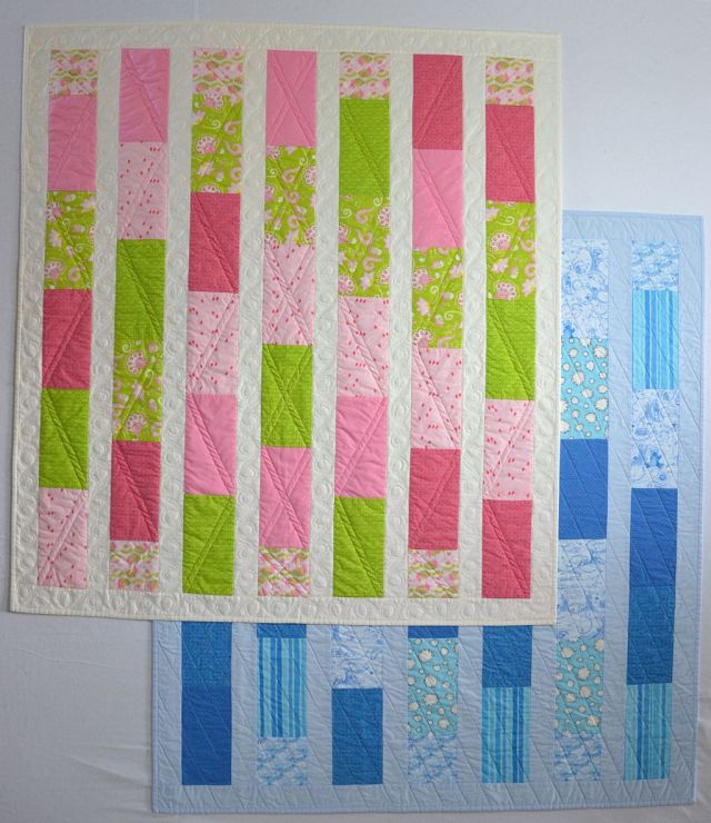 """""""Baby Bricks"""" a Free Charity Quilt Pattern designed by Christa from Christa Quilts"""