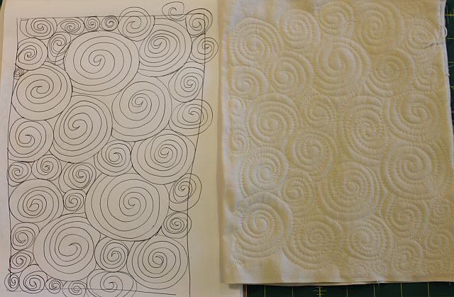 Sew and Tell Baby French Roses #4 – FMQ Practice – Christa Quilts : quilting swirls - Adamdwight.com