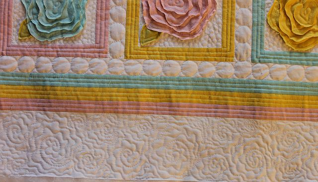 Sew and Tell Baby French Roses #6 Quilting Christa Quilts