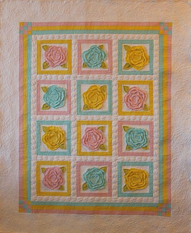 Sew And Tell Baby French Roses 6 Quilting Christa Quilts