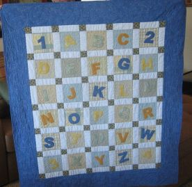Alphabet Applique Quilt