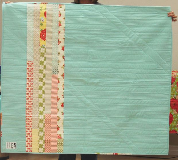 Jelly Roll Quilt Back