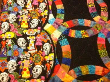 Day of the Dead Backing Fabric