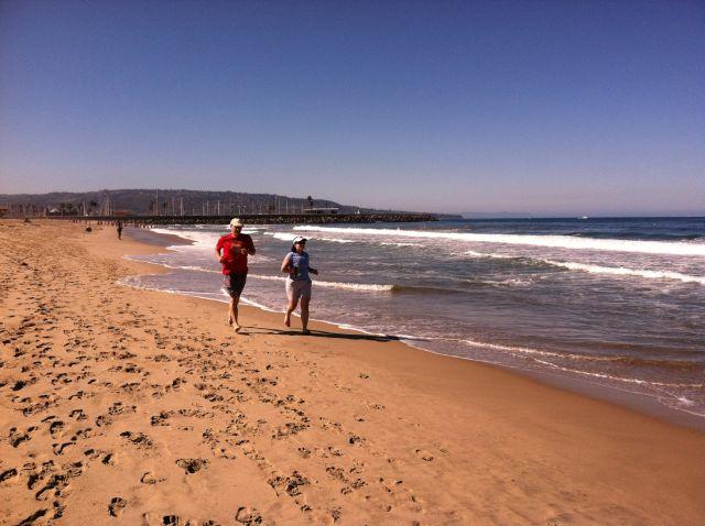 Barefoot Beach Running