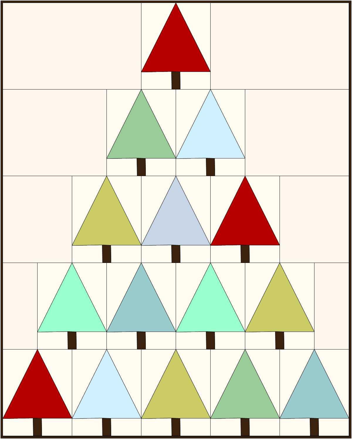 Christa s quilt along teaser modern christmas trees Modern christmas