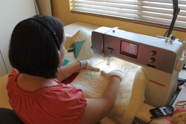 Listening and Quilting