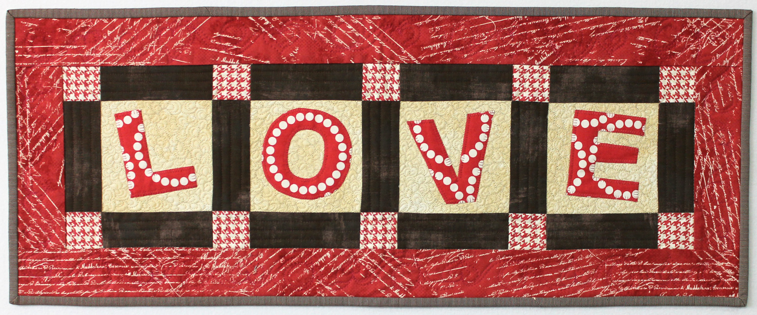 Love Table Runner Tutorial Christa Quilts