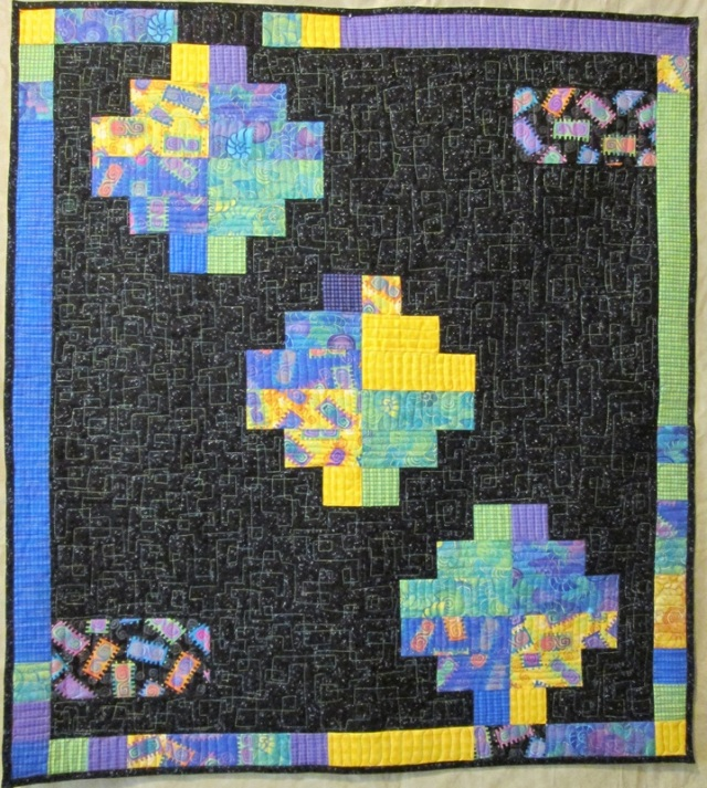 "Modern Baby Quilt, 39"" x 34"" by Ann Petersen Shared with Permission"