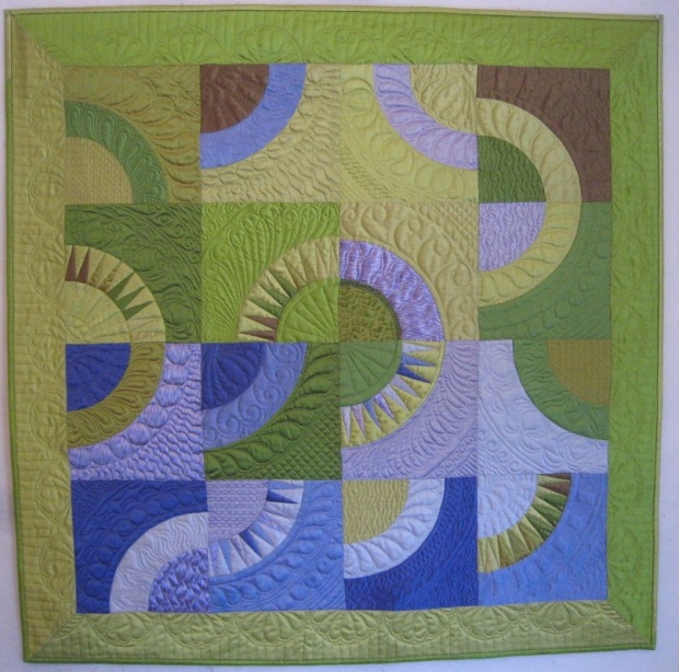 "Curves Again!-35"" x 35"" by Ann Petersen Shared with Permission"
