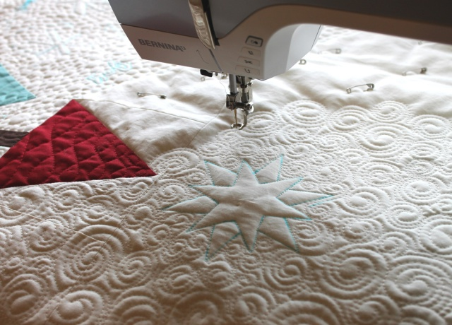 Free Motion Quilting a Tree Quilt