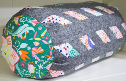 """April's Bolster Pillow, Part of """"The Pillow Collective"""""""