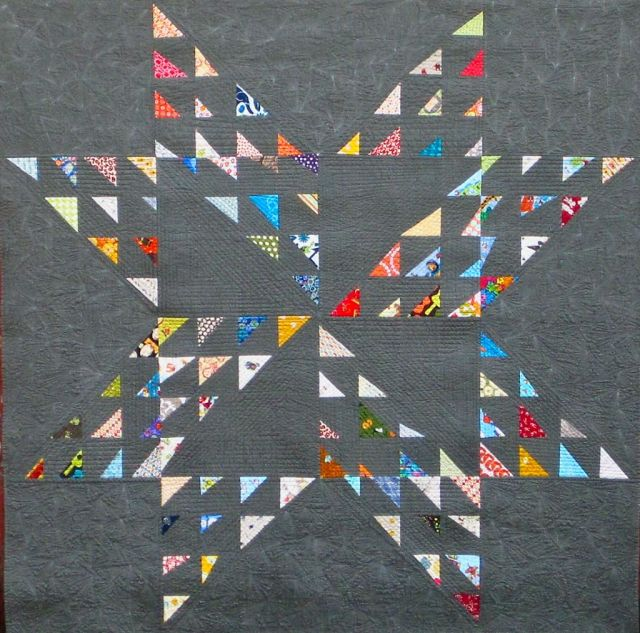"Seattle Star pieced by Katie Pedersen, machine quilted by Krista Withers, 60"" x 60"""