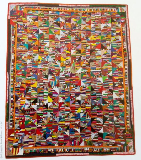 """Quilt (1995) by Anna Williams, 76"""" x 61"""""""