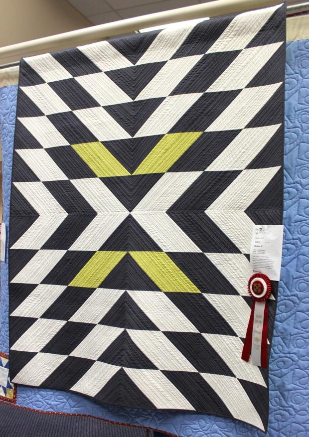 Modern X quilt