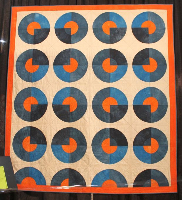 Blue Circle Quilt by Kim Eichler-Messmer