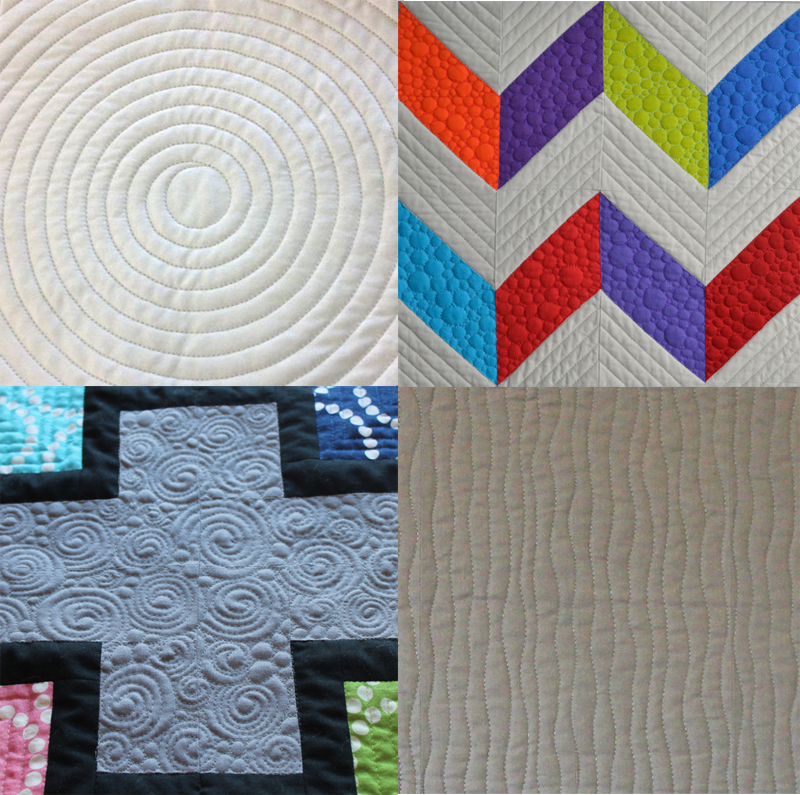 modern machine quilting samples