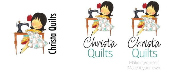Before (left) and after of Christa's logo.