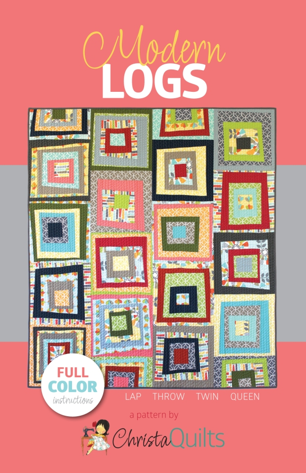 Modern Logs Quilt Pattern by Christa Watson of Christa Quilts