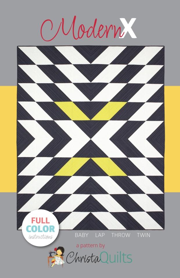 Modern X Quilt Pattern by Christa Watson of Christa Quilts