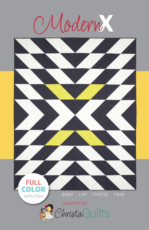 Modern X Quilt Pattern by Christa Watson of Christa Quilts