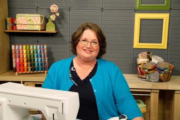 Amy Johnson on set at Craftsy
