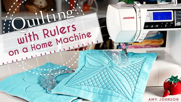 Yes You Can Quilt With Rulers On A Home Machine Christa Quilts Fascinating Free Arm Quilting Sewing Machine