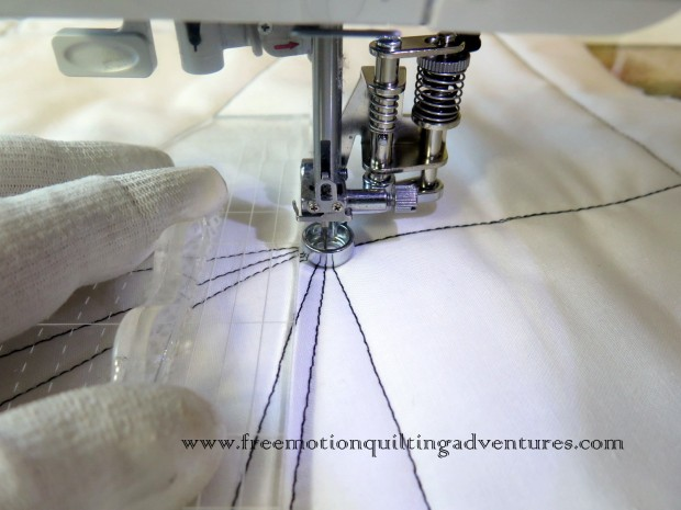 stitching with ruler
