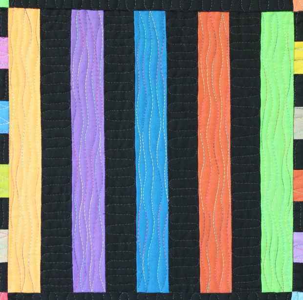 wavy lines quilting