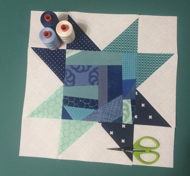Improv Star block for Aurifil