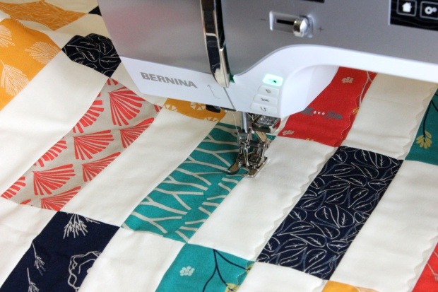 Simple Strips Quilt Along – Machine Quilting – Christa Quilts