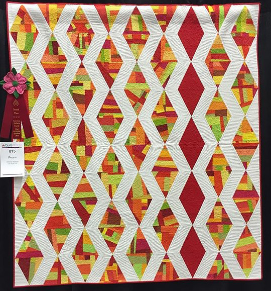 Facets Quilt Wins 2nd Place Modern in Paducah 2016! – Christa Quilts : aqs quilt show paducah - Adamdwight.com