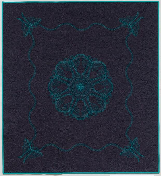 Swirling Butterflies Wholecloth Quilt