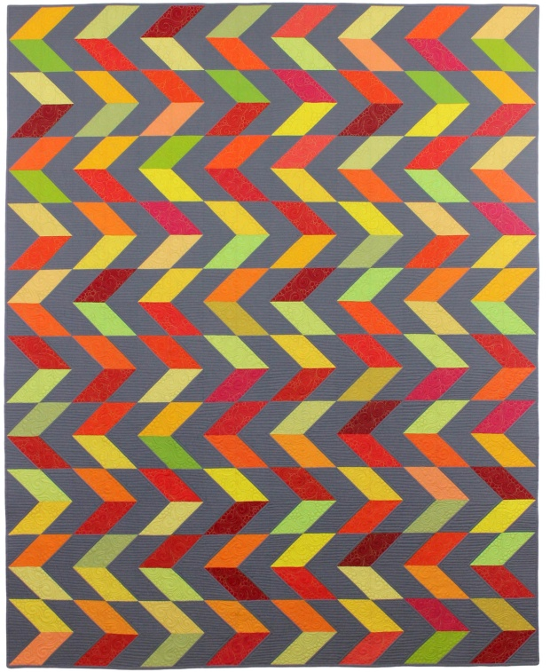 Feathered Chevrons is an alternate of my Charming Chevrons quilt pattern.