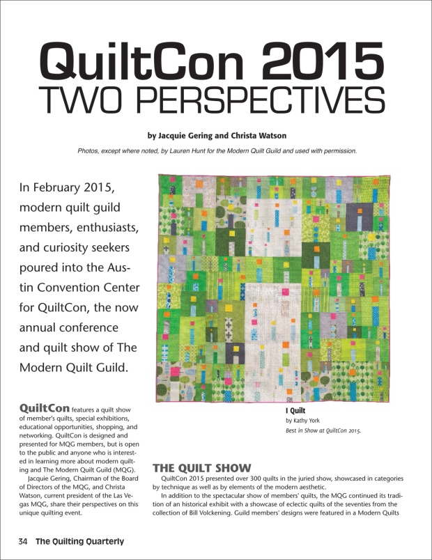 QuiltCon Article page 1