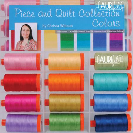 Piece and Quilt Aurifil thread by Christa Watson