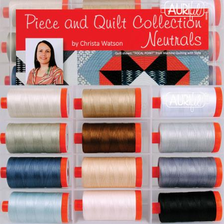 Piece and Quilt Neutrals Aurifil Thread from Christa Quilts