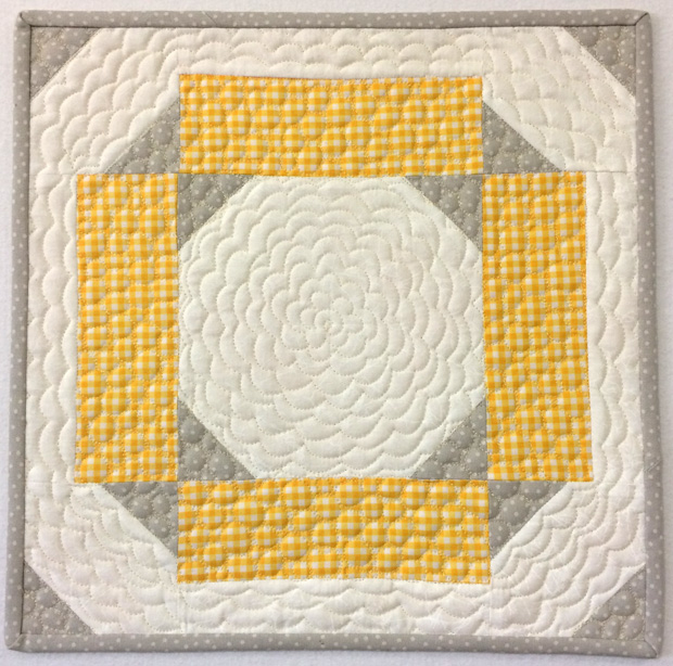 Machine Quilted Block