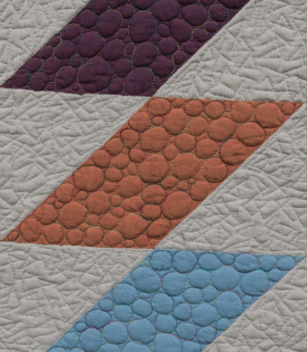 Triangle Texture and Pebble Quilting by Christa Watson