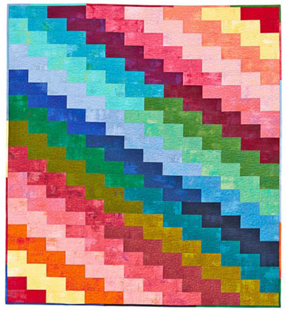 Free Rainbow Zig Zags Quilt pattern by Christa Watson of Christa Quilts