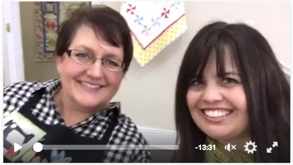 Facebook live with Christa Watson at My Girflriend's Quilt Shoppe