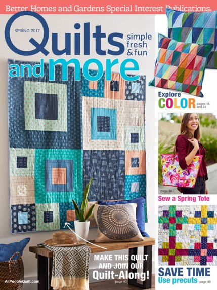 Quilts and More Spring 2017 cover