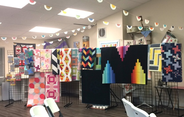 Christa's Quilts on display at My Girlfriend's Quilt Shoppe