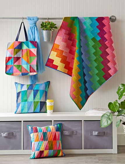 Scrap Lab projects featured in Quilts and More by Christa Watson, Jeni Baker and Sherri McConnell