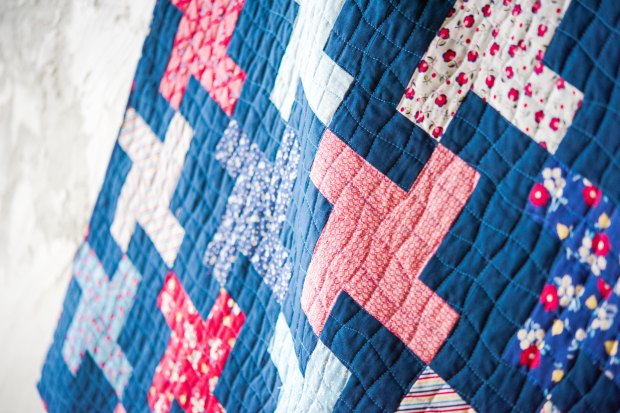 Walking foot quilting from The Quilter's Path Craftsy Class