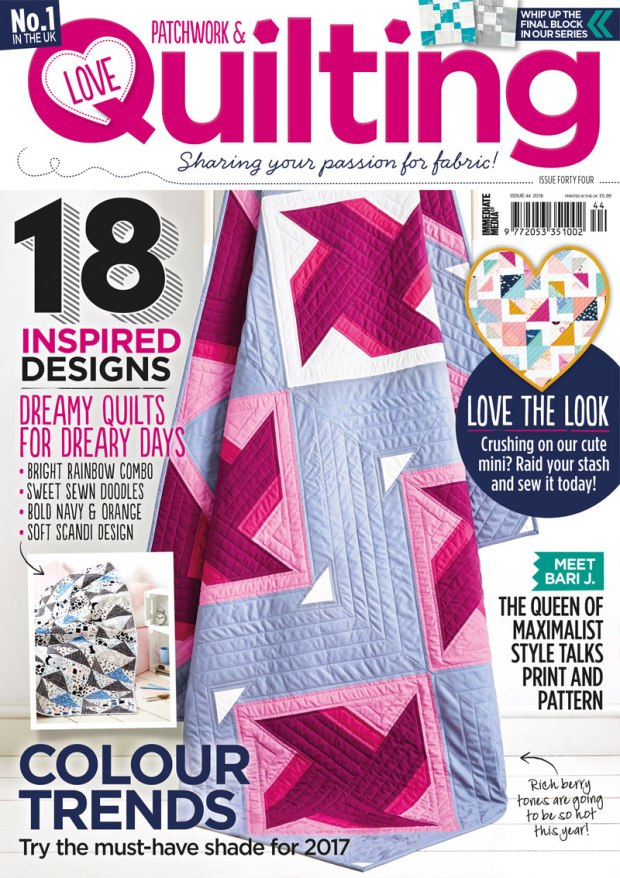 Love Patchwork and Quilting Cover Issue 44
