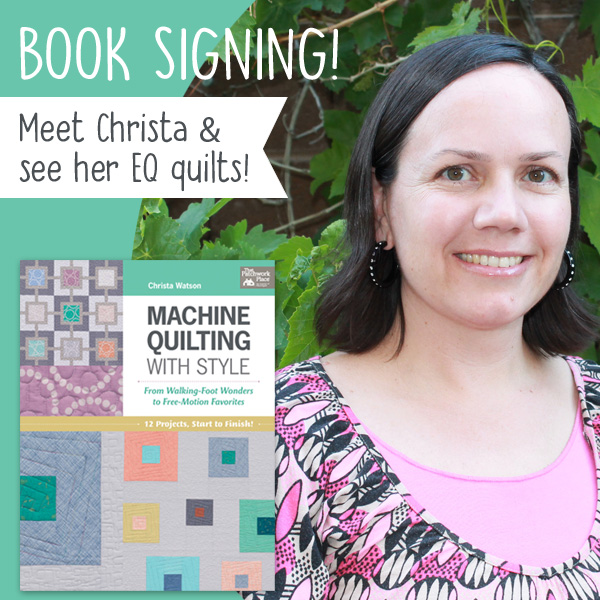 Christa Watson at QuiltCon in 2017