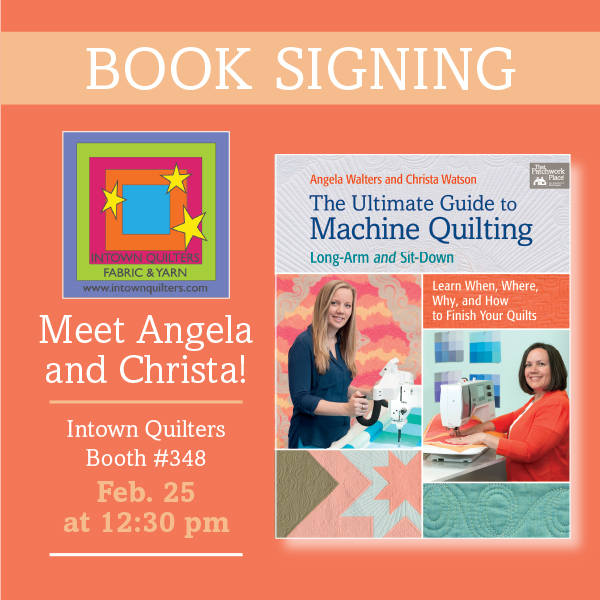 Meet Angela Walters and Christa Watson at QuiltCon